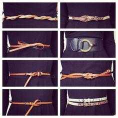 8 ways to tie a belt!