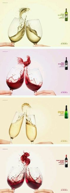 advertising campaign Great Advertisement Campaign for Aurora Wines -Do you like the visuals to cement food pairing ideas Clever Advertising, Print Advertising, Advertising Campaign, Print Ads, Marketing And Advertising, Guerilla Marketing, Web Design, Creative Design, Ads Creative