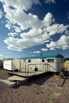 The Branstrator, El Cosmico, Marfa, TX. I stayed there and took a lovely bath under the stars.