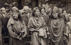 """Queen Elizabeth at a druid ceremony in the UK. """"Great Britain's Queen Elizabeth showed up at Bohemian Grove in 1983. """"Her Majesty was honored with an ecstatic pagan dance ceremony, complete with expensive, elaborate stage props such as Egyptian pyramids and Babylonian ziggurats."""""""