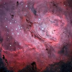 The Lagoon Nebula, one of the most beautiful nebulae of the Universe. #astronomy #space