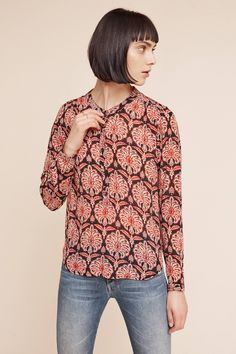 Slide View: 2: Noveau Printed Top