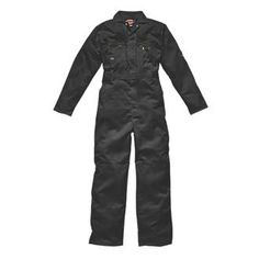 Dickies Redhawk Zip Front Coverall Black XX Black coverall with full length zip and studded over placket. Full back elastication and double pencil pocket on sleeve. http://www.MightGet.com/january-2017-13/dickies-redhawk-zip-front-coverall-black-xx.asp