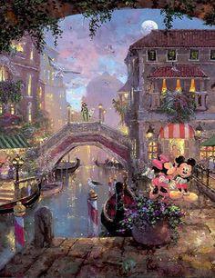 """""""A kiss in Venice"""" by James Coleman (Mickey Mouse)"""