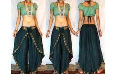 GYPSY BOHO INDIAN HAREM DANCING PANTS TROUSERS H26 Image