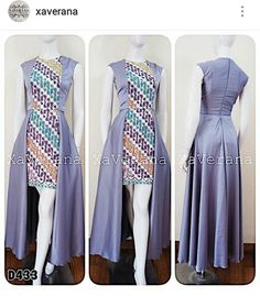 28 Ideas for dress brokat pendek modern Trendy Dresses, Simple Dresses, Nice Dresses, Fashion Dresses, Blouse Batik, Batik Dress, Batik Couple, Dress Brokat, Batik Kebaya