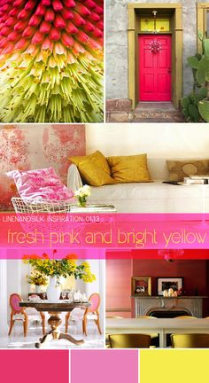 Colour inspiration 01.13 | fresh pink and bright yellow |
