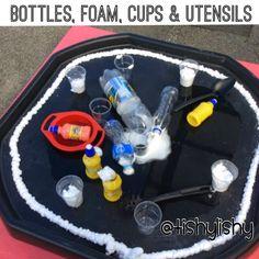 Tuff spot enhancement with foam, cups, bottles and utensils.
