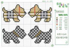 Free Scottie Dog Cross Stitch Chart or Hama Perler Bead Pattern