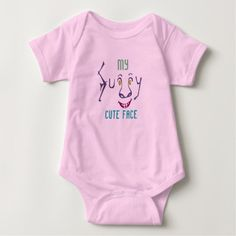My Funny Cute Face Baby Bodysuit