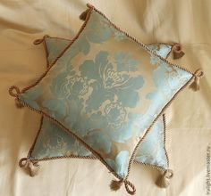 Купить Подушка декоративная Дамаск Бирюза - подушка декоративная, подушка на диван, подушка, пошив на заказ