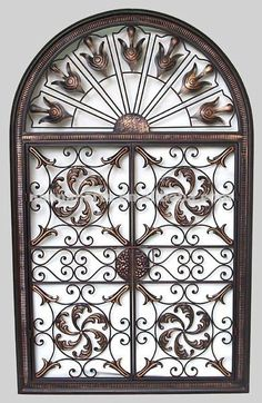 Black Wrought Iron Wall Decor