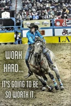I wanna barrel horse so i can train to be a barrel racer Cowgirl Quote, Cowgirl And Horse, My Horse, Horse Love, Rodeo Cowgirl, Barrel Racing Quotes, Barrel Racing Horses, Barrel Horse, Rodeo Quotes