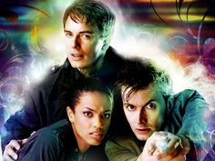 Martha, Captain Jack Harkness and the Doctor