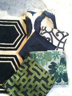 navy's and greens great mix of fabrics all by Blog | Meredith Heron Design