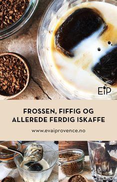 FROSSEN, FIFFIG OG ALLEREDE FERDIG ISKAFFE Cereal, Pudding, Breakfast, Desserts, Food, Morning Coffee, Tailgate Desserts, Deserts, Custard Pudding