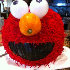 1000 images about halloween on pinterest cookie monster for Elmo pumpkin template