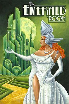 p/michael-kungl-art-emerald-room-art-deco - The world's most private search engine Poster Art, Art Deco Posters, Vintage Posters, Vintage Art, Art Deco Illustration, Illustrations, Retro Kunst, Retro Art, Art Deco Stil