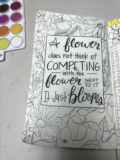 Bullet journal monthly layout: May flowers