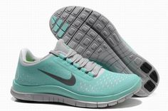 Nike Free 3.0 V4 Gray Jade Womens Running Shoes