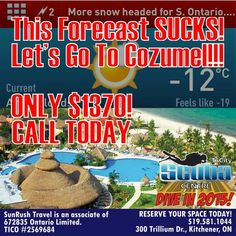 Get out of this crappy weather! Let's #DiveIn2015! Call the shop to book today - 519-581-1044.