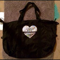 VS fashion show duffle bag NWOT - black and silver. Victoria's Secret Bags Travel Bags