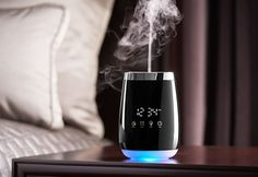 The Alarm Clock Aromatherapy Diffuser is the perfect way to wind down at night and wake up in the morning. Elegant and practical, it has touch controls that make it super easy to set up and use.
