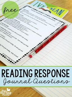 Reading Response Journal Questions - FREE - This Reading Mama