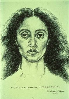 Adrian Piper - Conceptual artist Adrian Piper has studied art and taught philosophy at renowned institutions across the globe. Piper was a trailblazer in introducing the concepts of gender and race into a feminist art movement and has integrated drawing, street performances, and costumes into her art. Her 1981 drawing Self-Portrait Exaggerating My Negroid Features has a permanent home in the Elizabeth A. Sackler Center for Feminist Art at the Brooklyn Museum. Chakaia B
