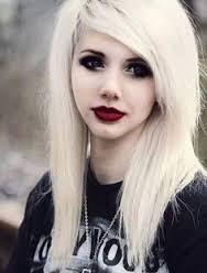 scene girl blonde hair