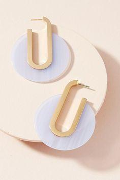 Slide View: 1: Petite Berlin Lucite Hoop Earrings #Women'sEarrings