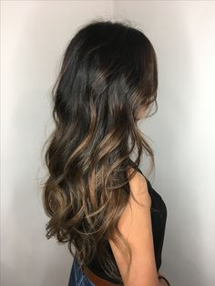 Bayalage hair technique on dark brown hair by GGhairart