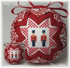 """""""Toy Soldiers"""" ornament....Visit www.etsy.com/shop/pattyscraftcorner to view a variety of handmade ornaments."""