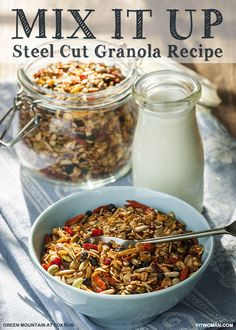 Easy Recipes to Feel Good: Steel Cut Granola with Hemp Seeds