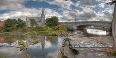 LeRoy, New York, Oatka Creek at the St. Marks Episcopal Church.