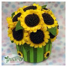 Sunflower Bouquet    Roll Tissue Box