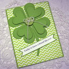 "Not the design, but the combination of 4 leaf clover with the ""Lucky to have..."" sentiment"