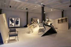 Jean Prouvé furnitures by G Star RAW for Vitra exhibit design