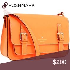 Kate Spade orange crossover Gently used, like new! kate spade Bags Crossbody Bags