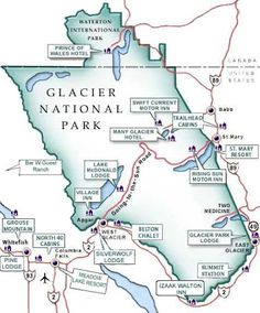 Glacier National Park Map More