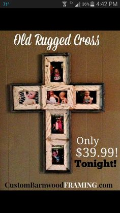 old rugged cross custom barnwood frames