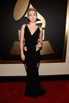 Miley Cyrus, in Alexandre Vauthier, with Lorraine Schwartz jewels. The 2015 Grammy Awards - Gallery - Style.com