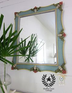 Shabby Coast Cottage: Vintage Mirrors in chalk paint