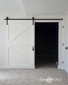 Read on as I show you exactly how I constructed this budget friendly British brace barn door and what materials I used! Staircase Makeover, Staircase Molding, Wall Molding, Moulding, Painted Brick Exteriors, Diy Barn Door, Barn Doors, Ikea Billy Bookcase, Faux Shiplap