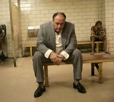 James Gandolfini as Tony Soprano.