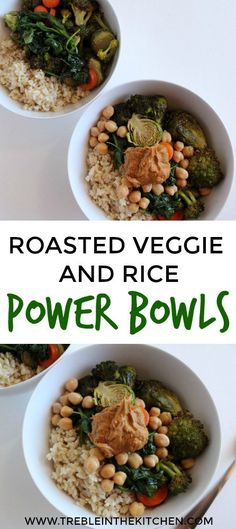 Roasted Veggie and Rice Power Bowl #Vegan #lowFODMAP #glutenfree