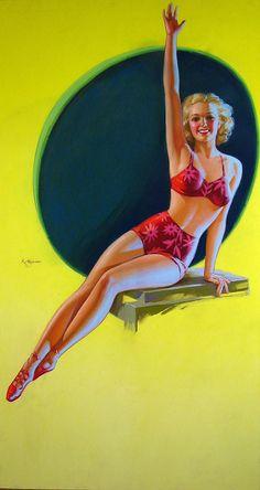 The Bathing Belle  Artist:K.O. Munson  Date:1940s