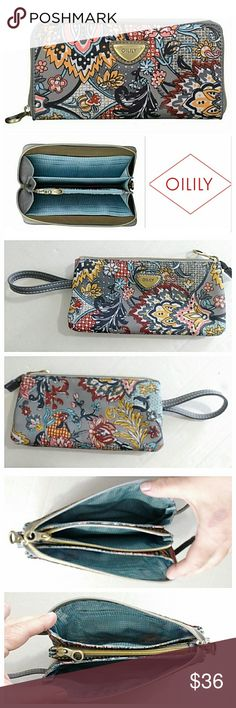 """Oilily French Paisley Travel Wristlet Beautiful and functional wristlet with lots of pockets and pouches to keep you organized. Covershot is for reference only. Measures 4"""" H x 8"""" L. 💥 Reasonable Offers Accepted 💥 Oilily Bags Clutches & Wristlets"""