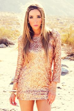 love this! rose gold dress - possibly for NYE 2013??