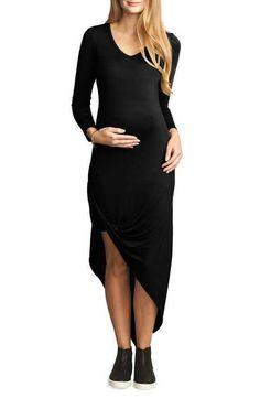 The Urban Ma Draped Lightweight Maternity Dress